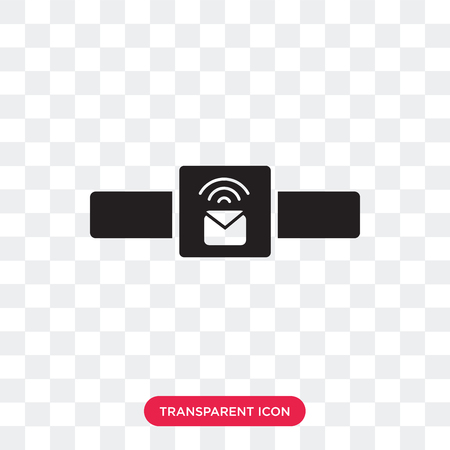 Smartwatch vector icon isolated on transparent background, Smartwatch logo concept