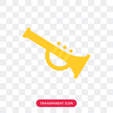 Trumpet vector icon isolated on transparent background, Trumpet logo concept