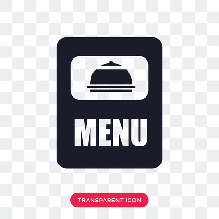 Menu vector icon isolated on transparent background, Menu logo concept