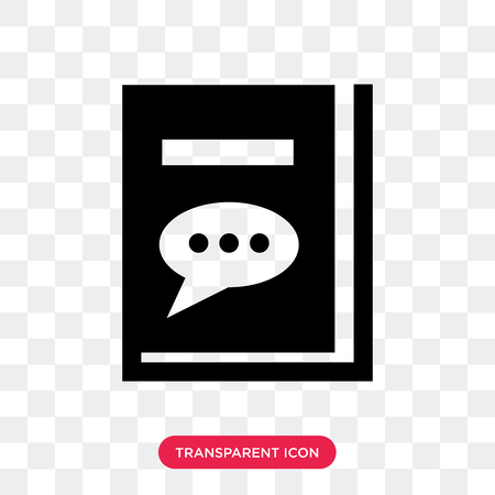 Complaints book vector icon isolated on transparent background, Complaints book logo concept