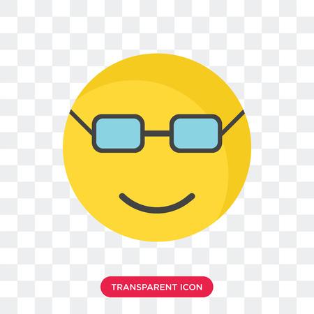 Nerd smile vector icon isolated on transparent background, Nerd smile logo concept Ilustracja