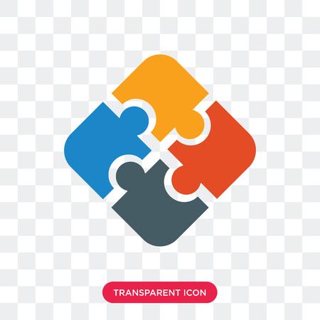 Układanka wektor ikona na białym tle na przezroczystym tle, koncepcja logo układanki