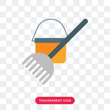 Mop vector icon isolated on transparent background, Mop logo concept Illustration