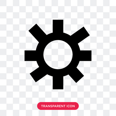 Settings vector icon isolated on transparent background, Settings logo concept Illustration