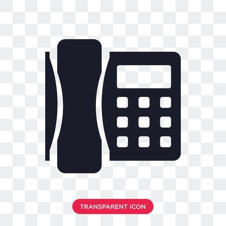 Icône de vecteur de téléphone isolé sur fond transparent, concept logo téléphone Logo