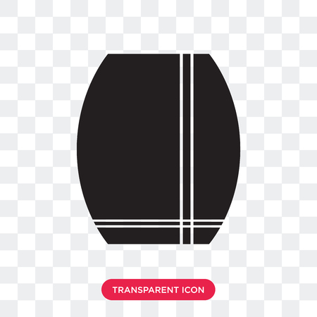 Skirt with slit and belt vector icon isolated on transparent background, Skirt with slit and belt logo concept