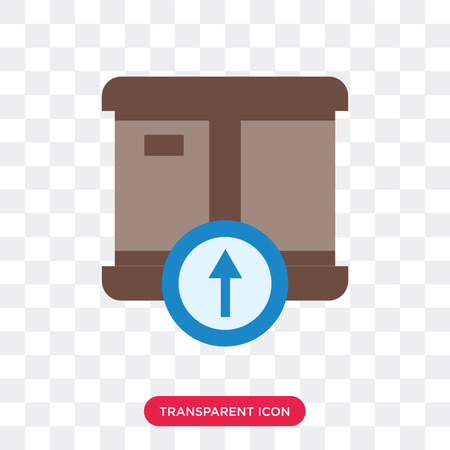 Delivery box vector icon isolated on transparent background, Delivery box logo concept Illustration