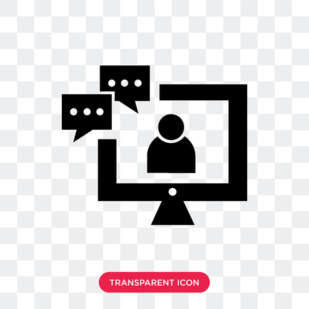 Video conference vector icon isolated on transparent background, Video conference logo concept Ilustração