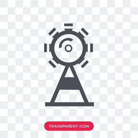 Icône de vecteur de grande roue isolé sur fond transparent, concept logo grande roue