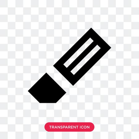 Eraser vector icon isolated on transparent background, Eraser logo concept Illustration