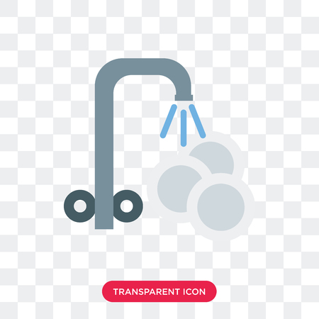 Washing plate vector icon isolated on transparent background, Washing plate logo concept