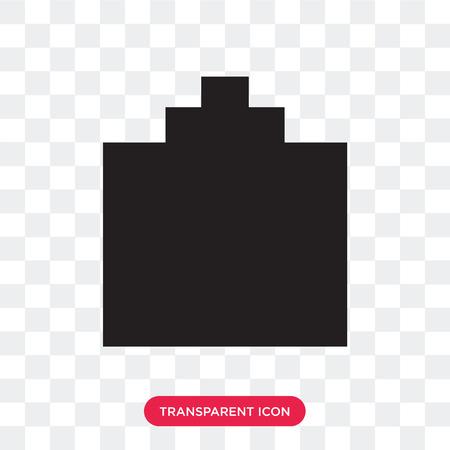 Cologne black bottle shape vector icon isolated on transparent background, Cologne black bottle shape logo concept Stock Vector - 107652322