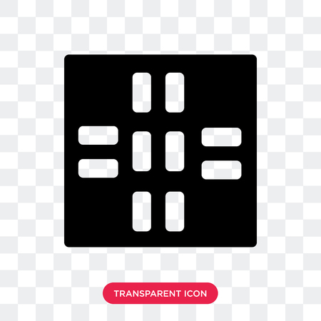 Road vector icon isolated on transparent background, Road logo concept