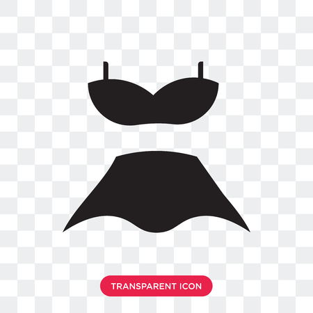 Swimsuit feminine vector icon isolated on transparent background, Swimsuit feminine logo concept