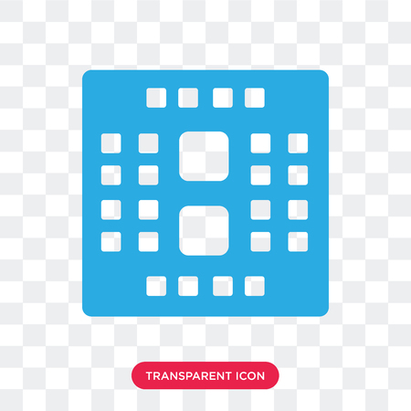Cpu vector icon isolated on transparent background, Cpu logo concept