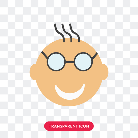Nerd smile vector icon isolated on transparent background, Nerd smile logo concept Foto de archivo - 107538361