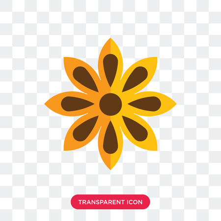 Anise vector icon isolated on transparent background, Anise logo concept