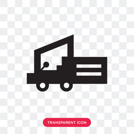 Forklift vector icon isolated on transparent background, Forklift logo concept Illustration