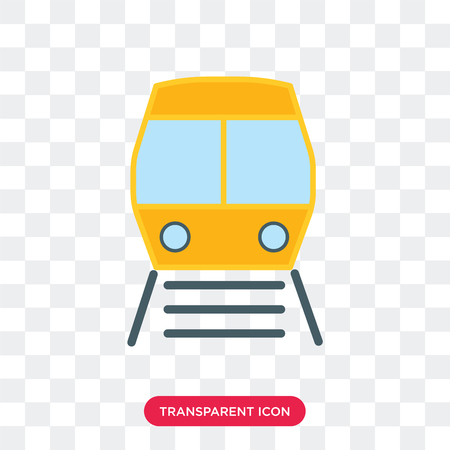 Train vector icon isolated on transparent background, Train logo concept