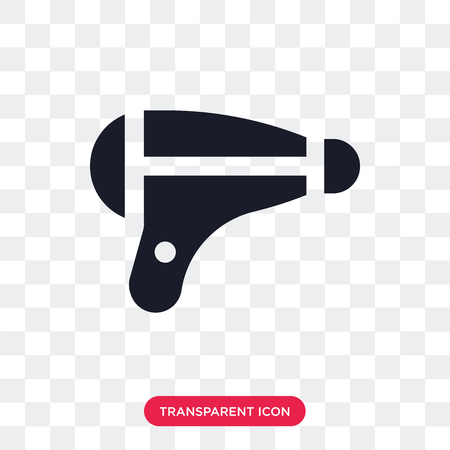 Hairdryer vector icon isolated on transparent background, Hairdryer logo concept Illustration