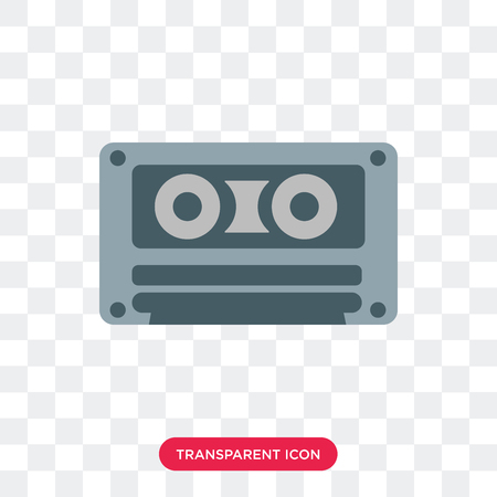 Cassette tape vector icon isolated on transparent background, Cassette tape logo concept