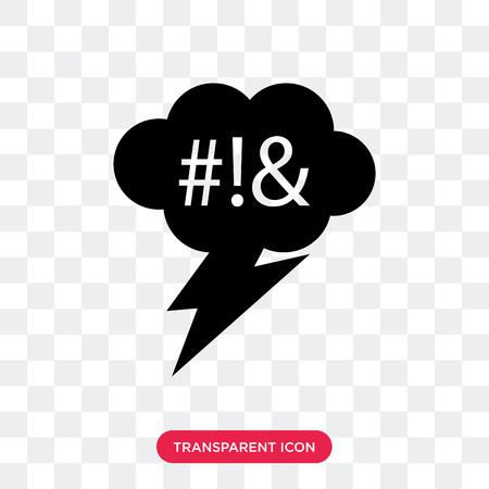 Icône de vecteur de serment isolé sur fond transparent, concept de logo de serment Logo