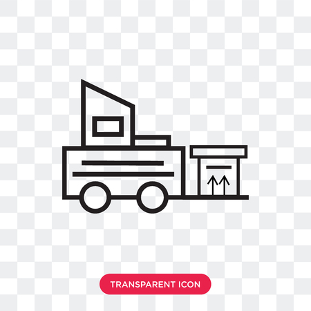 Forklift vector icon isolated on transparent background, Forklift logo concept