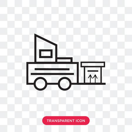 Icona di vettore del carrello elevatore isolato su sfondo trasparente, concetto di marchio del carrello elevatore