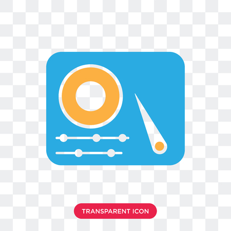 Hard disc vector icon isolated on transparent background, Hard disc logo concept