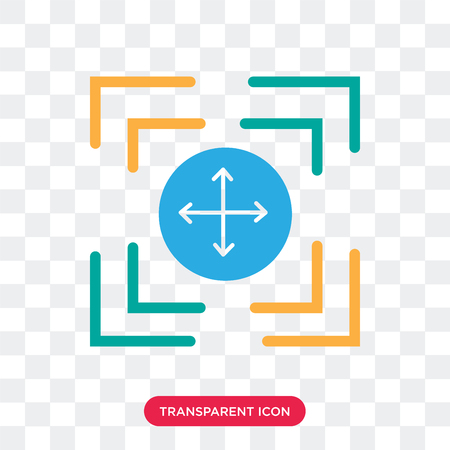 Expand vector icon isolated on transparent background, Expand logo concept