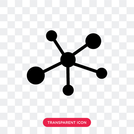 Molecular bond vector icon isolated on transparent background, Molecular bond logo concept