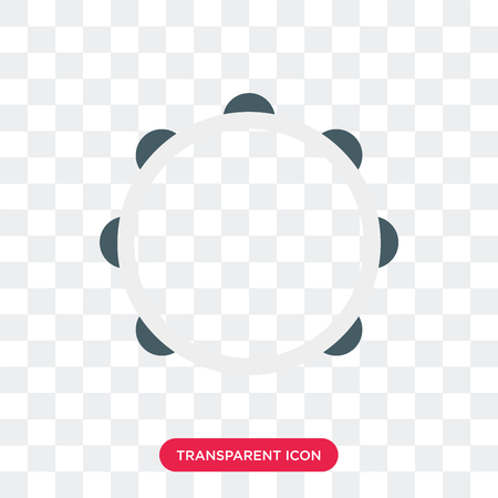 Tambourine vector icon isolated on transparent background, Tambourine logo concept 向量圖像