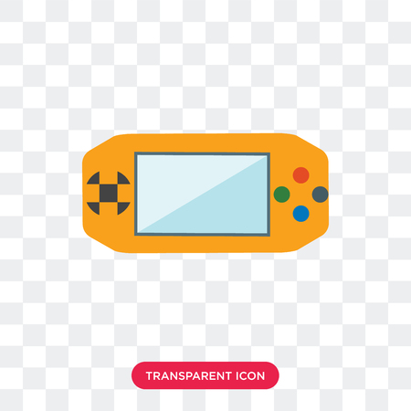 Console vector icon isolated on transparent background, Console logo concept