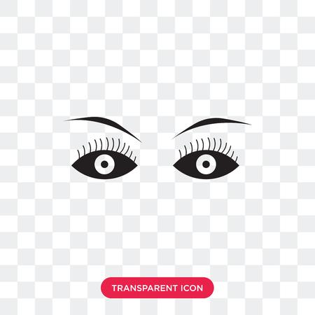 Female eye vector icon isolated on transparent background, Female eye logo concept