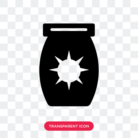 Sun Block vector icon isolated on transparent background, Sun Block logo concept Illustration