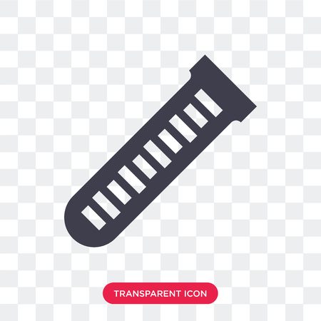 Test tube vector icon isolated on transparent background, Test tube logo concept 일러스트