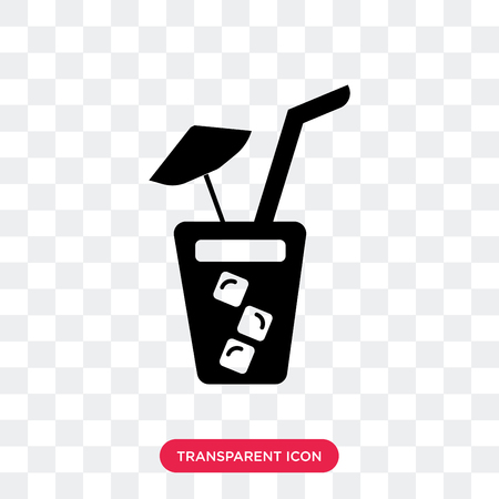 Soda with Straw vector icon isolated on transparent background, Soda with Straw logo concept