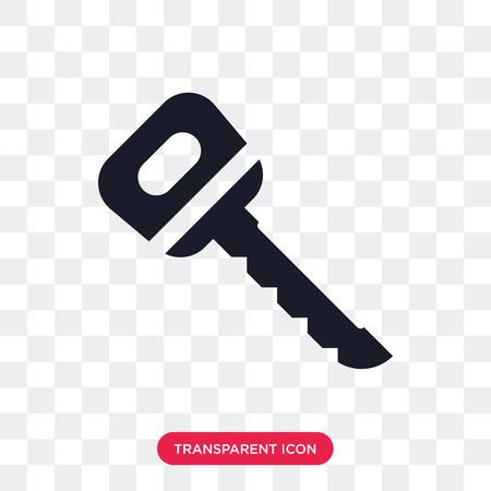 Door key vector icon isolated on transparent background, Door key logo concept Illustration