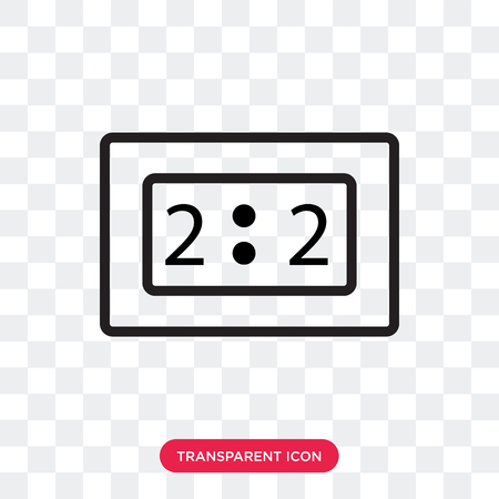 time vector icon isolated on transparent background, time logo concept