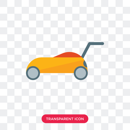 Lawn mower vector icon isolated on transparent background, Lawn mower logo concept 일러스트