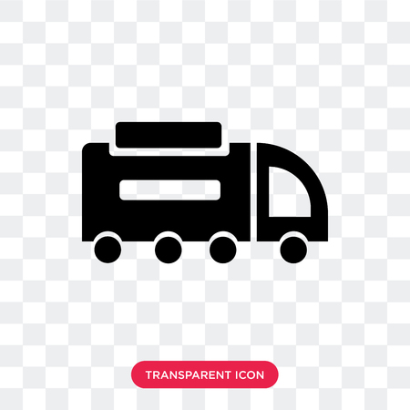 Road sweeper vector icon isolated on transparent background, Road sweeper logo concept Stock Illustratie