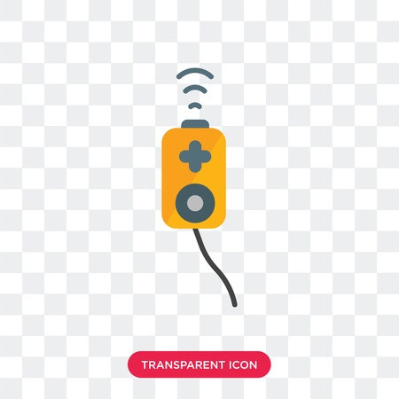 Gamepad vector icon isolated on transparent background, Gamepad logo concept Illustration