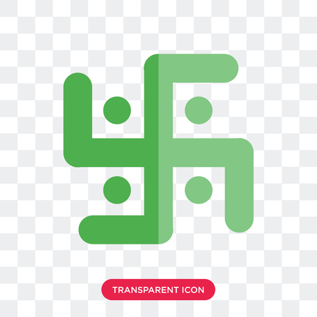 Swastica vector icon isolated on transparent background, Swastica logo concept Illustration