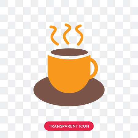 Tea cup vector icon isolated on transparent background, Tea cup logo concept