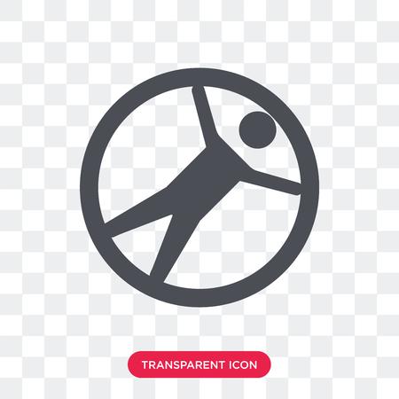 Icône de vecteur de Zorbing isolé sur fond transparent, concept logo Zorbing Logo
