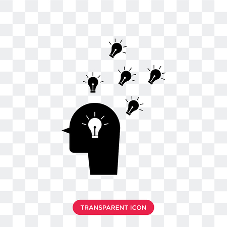 Having an idea vector icon isolated on transparent background, Having an idea logo concept