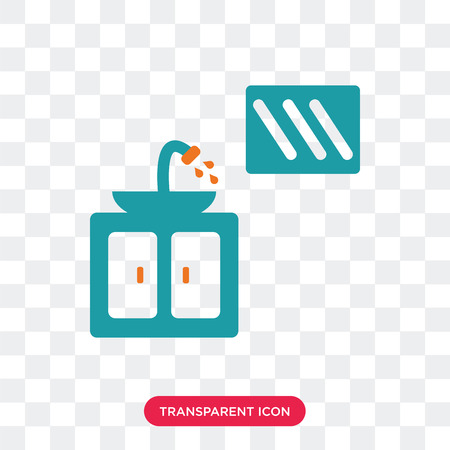 Sink vector icon isolated on transparent background, Sink logo concept