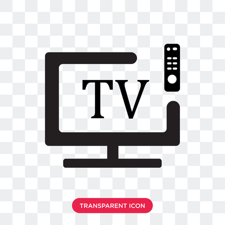 Smart tv vector icon isolated on transparent background, Smart tv logo concept