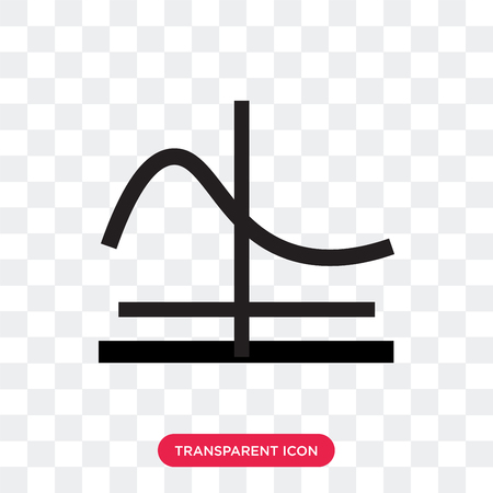 Gaussian function vector icon isolated on transparent background, Gaussian function logo concept Stock Illustratie