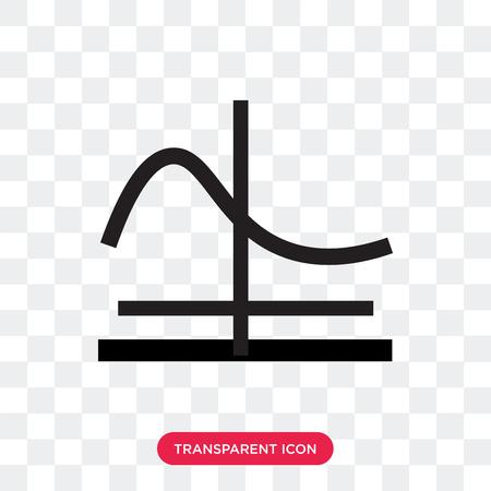 Gaußsche Funktionsvektorikone lokalisiert auf transparentem Hintergrund, Gaußsche Funktionslogo-Konzept